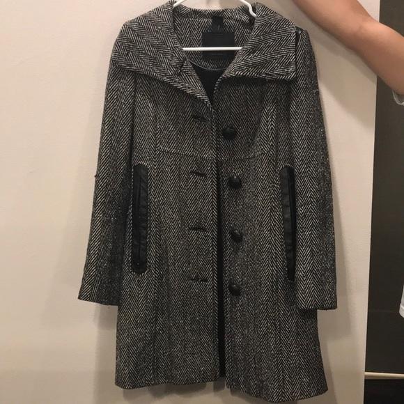 ace36ec15179e Mackage Jackets & Coats | Tweed Winter Coat With Leather Trim | Poshmark